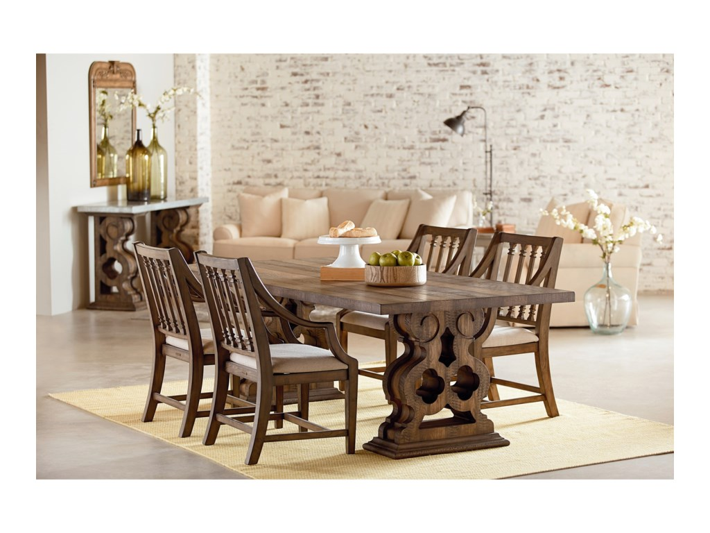Magnolia Home by Joanna Gaines Traditional Dining Room Trestle ...