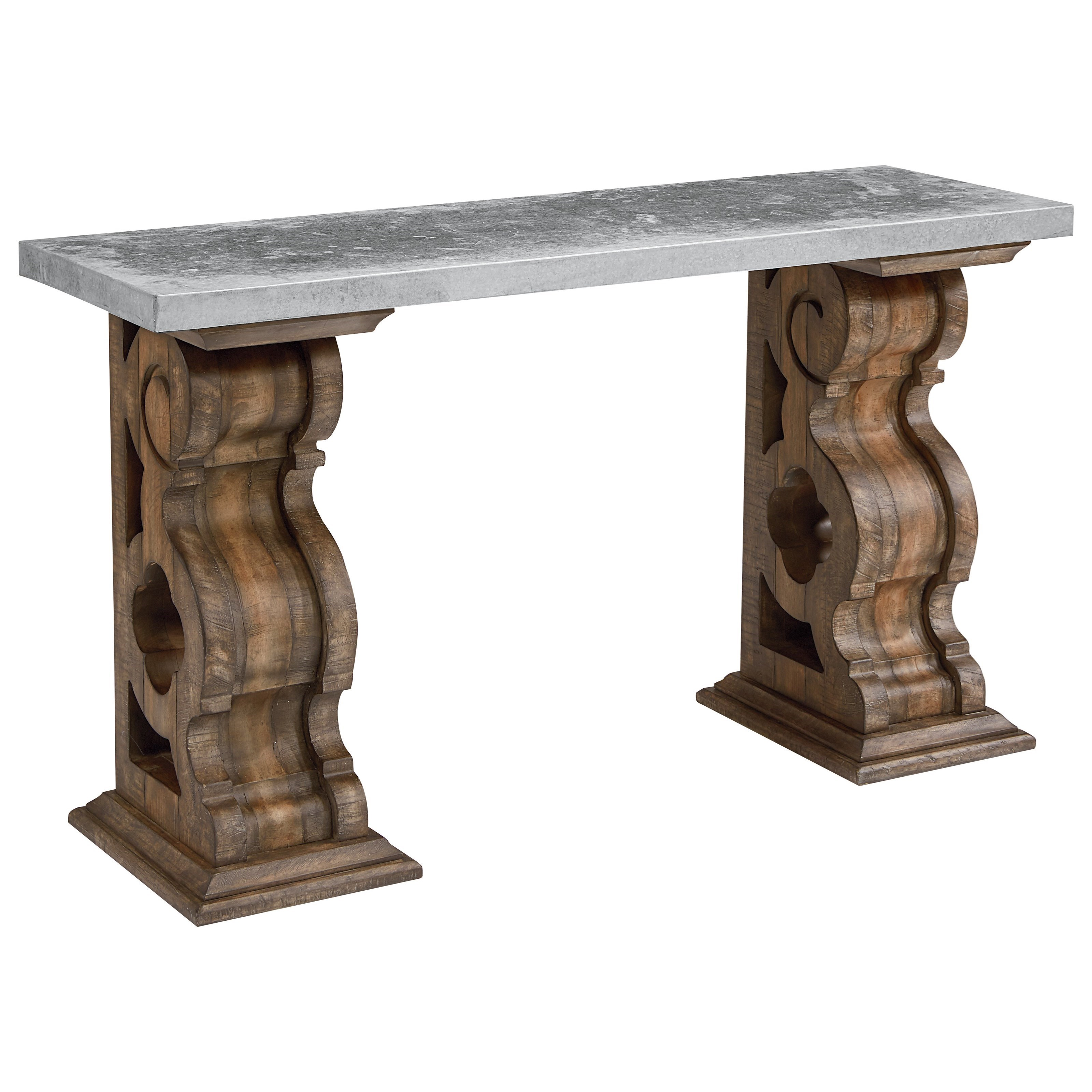 Magnolia Home By Joanna Gaines TraditionalHall Table With Zinc Top ...