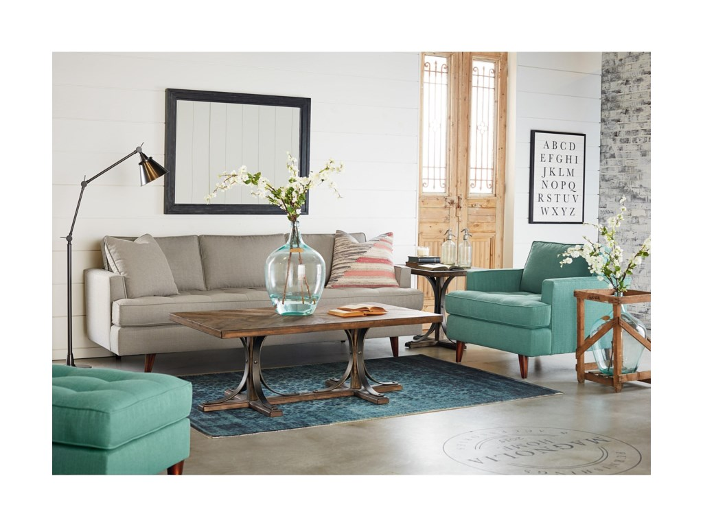 Magnolia Home by Joanna Gaines TraditionalCocktail Table with Metal Base