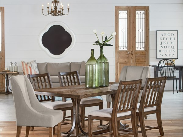 Traditional Dining with Revival Chairs