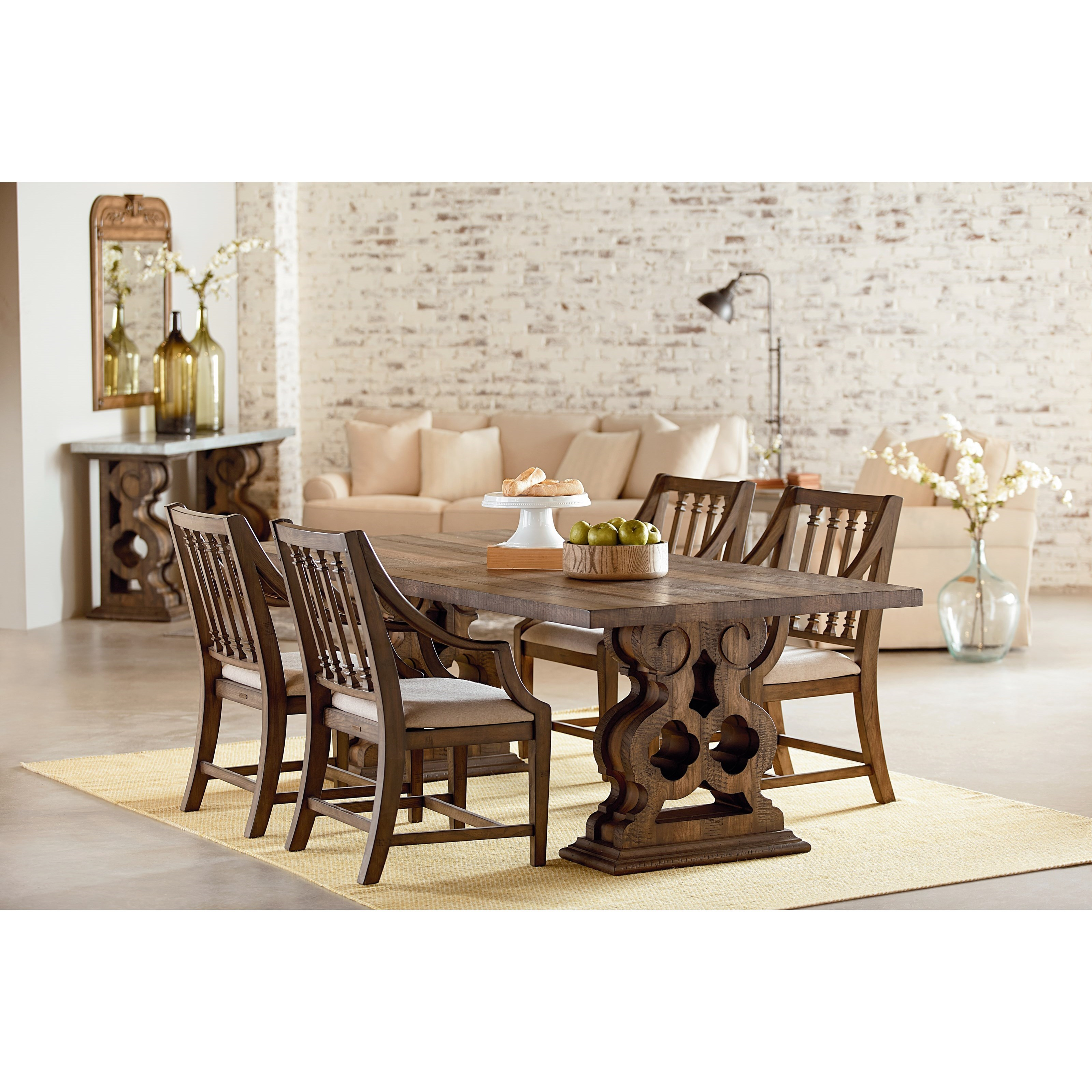 Magnolia Home By Joanna Gaines TraditionalTraditional Double Pedestal Dining  Room ...