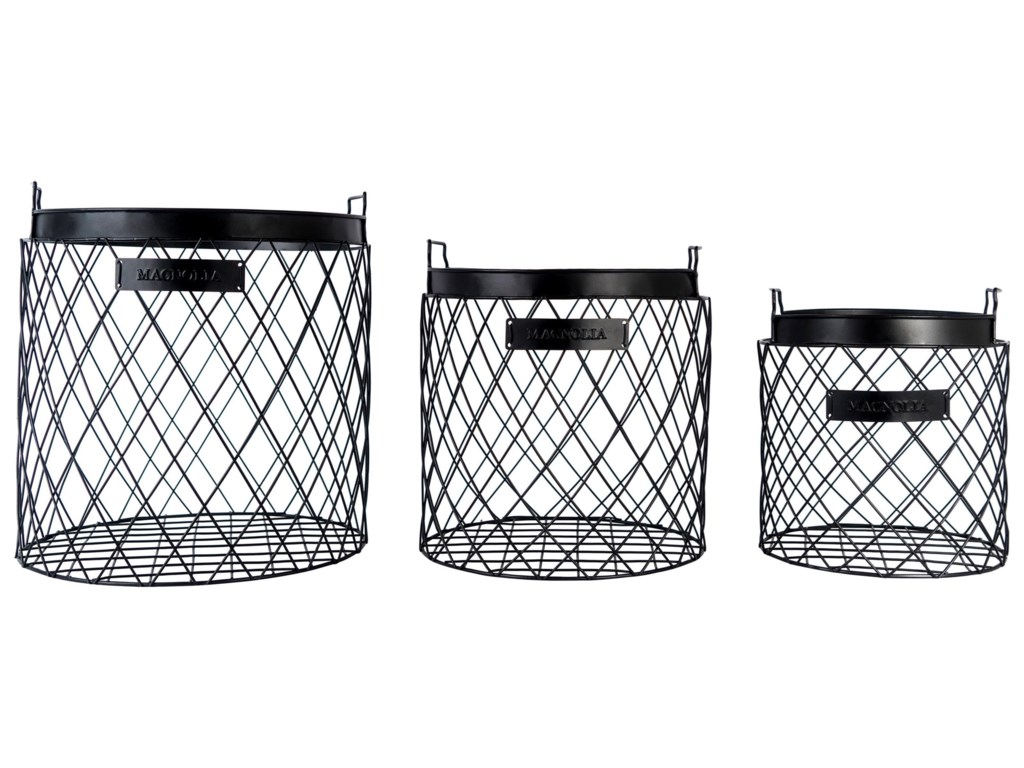 Magnolia Home by Joanna Gaines Accessories Wire Rhombus Baskets ...