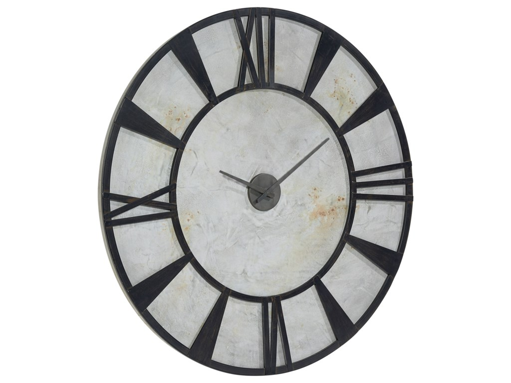 Magnolia Home By Joanna Gaines Accessories Metal Industrial Wall Clock Great American Home Store Wall Clocks