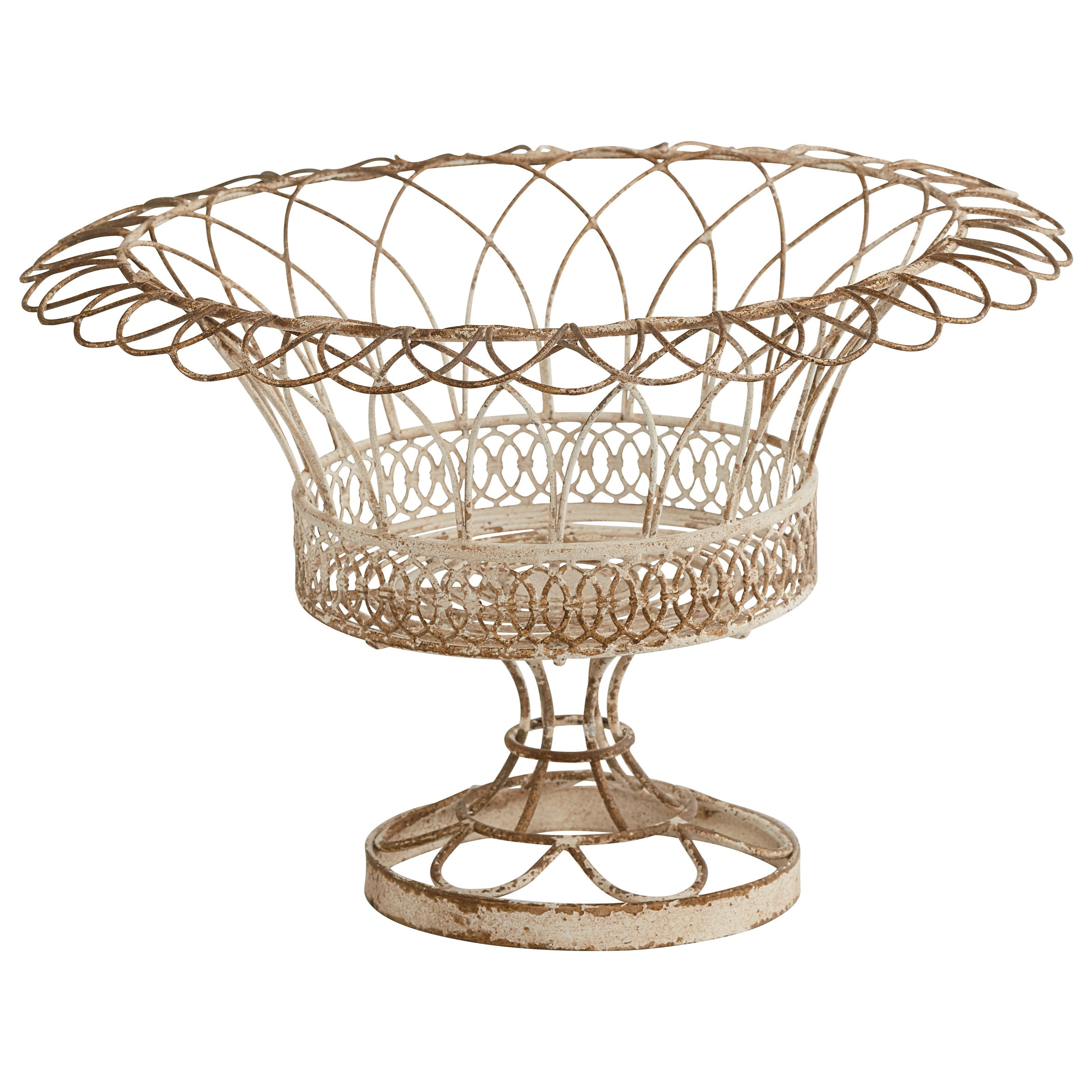 Bon Magnolia Home By Joanna Gaines Accessories Small Aged Wire Garden Urn