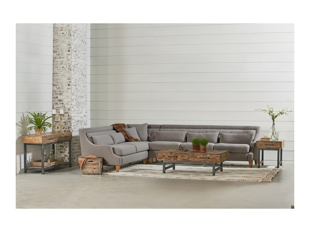 Magnolia Home By Joanna Gaines Chiselsectional Sofa