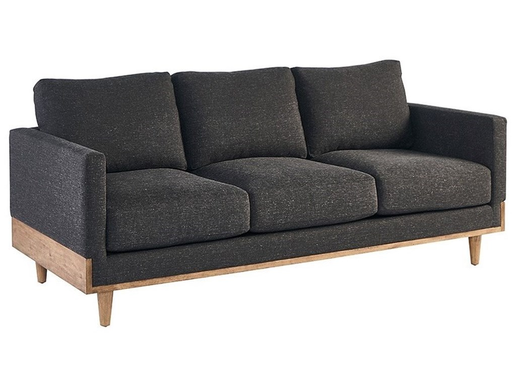 Magnolia home by joanna gaines circa seating circa mid century modern sofa with track arms