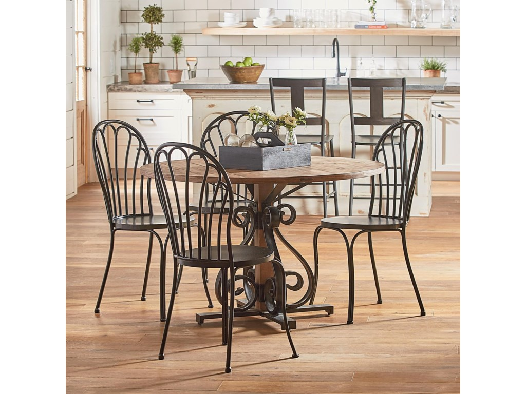 Magnolia Home By Joanna Gaines French Insipiredround Table And Chair Set