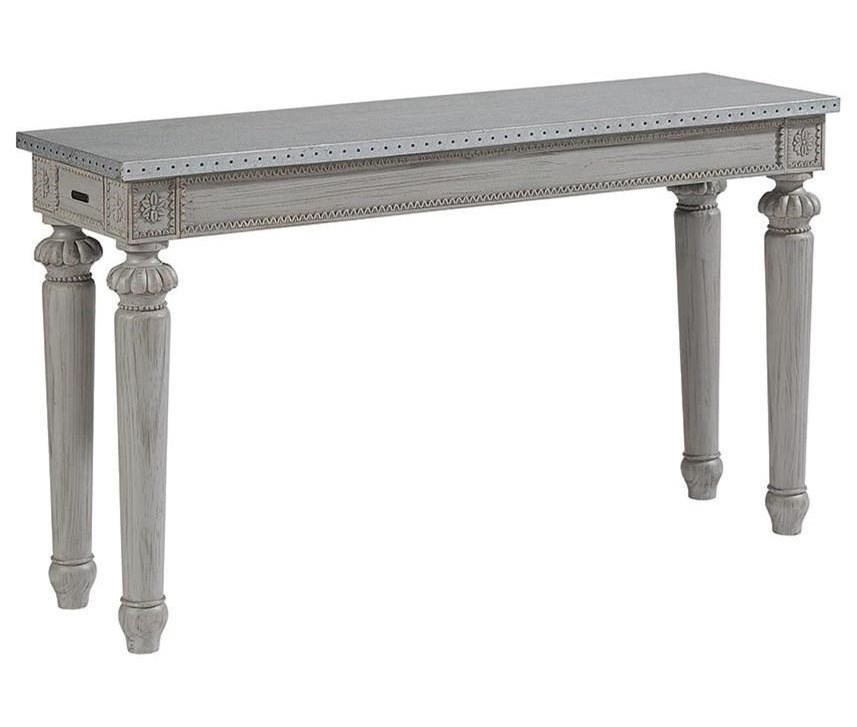 Magnolia Home By Joanna Gaines French Calais End Console Zinc Top