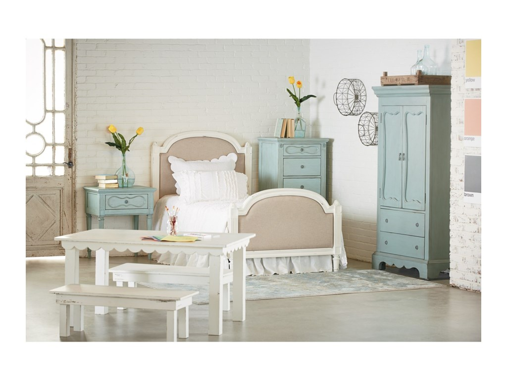 French Inspired Queen Bedroom Group by Magnolia Home by Joanna Gaines at  Fashion Furniture