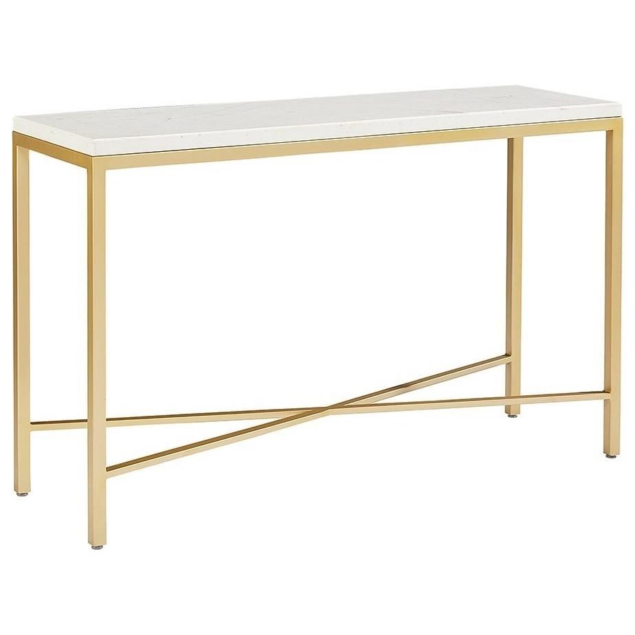 Magnolia Home By Joanna Gaines Modern Luxe Console Table With Glass Top