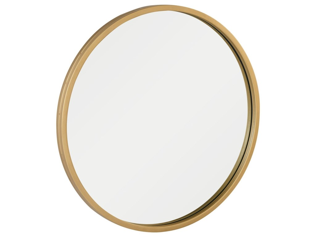 Magnolia Home By Joanna Gaines Modern Round Mirror With Brushed Br Frame