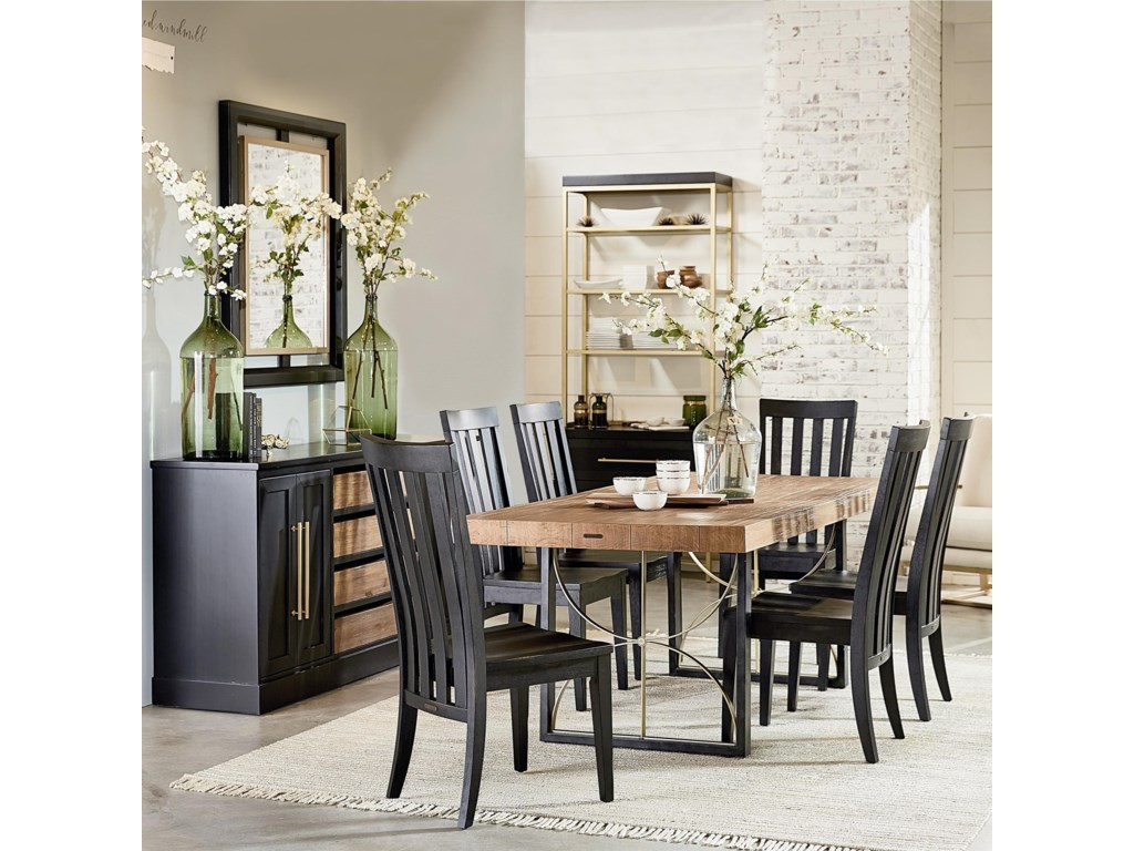 Magnolia Home by Joanna Gaines Modern 7\' Dining Room Group | Coconis ...