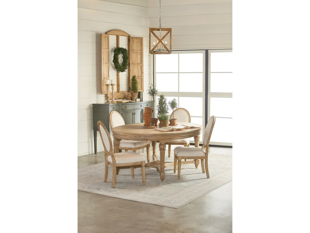 Magnolia Home By Joanna Gaines Traditionalfive Piece Dining Set