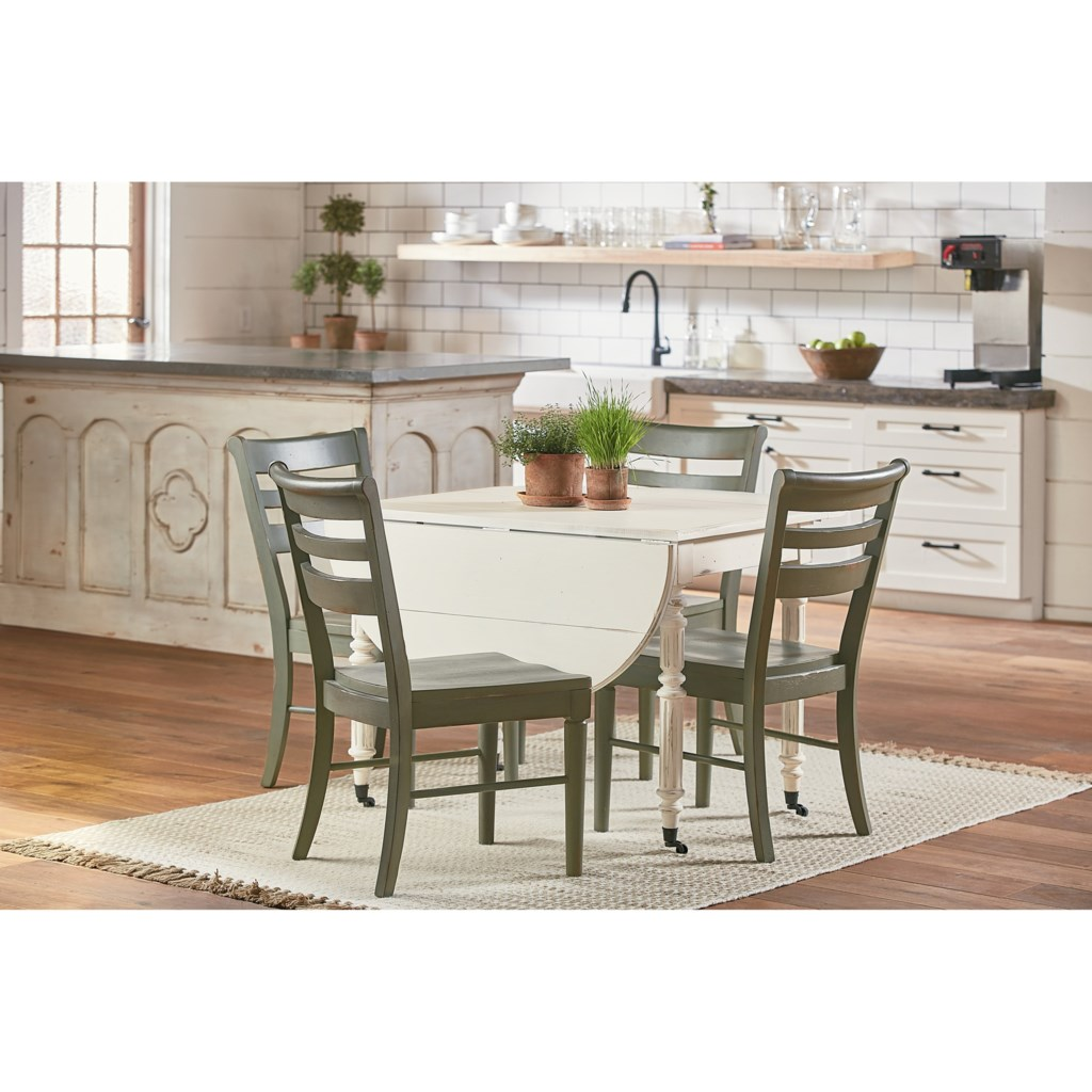 magnolia home by joanna gaines traditional oval drop leaf table