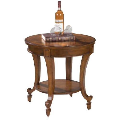 Magnussen Home Aidan Round End Table with Shelf