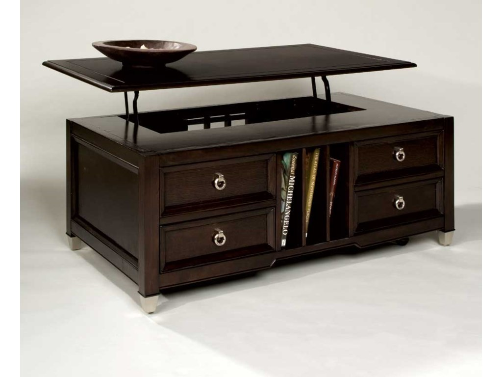 Magnussen Home Darien Lift Top Tail Table With Castors