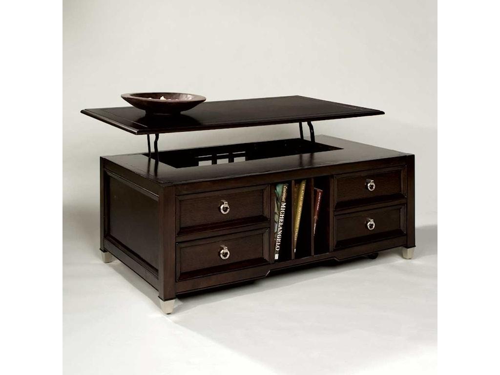 Darien Lift Top Tail Table With Castoragazine Storage By Magnussen Home
