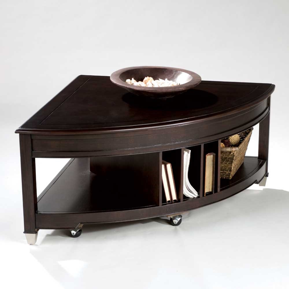 Delicieux Magnussen Home Darien Pie Shaped Cocktail Table With Lifting Top, Casters,  And Magazine Storage