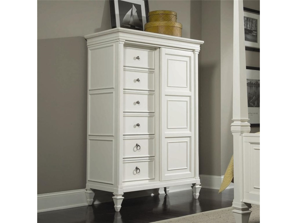 Magnussen Home Ashby Drawer Chest With Sliding Door Goffena