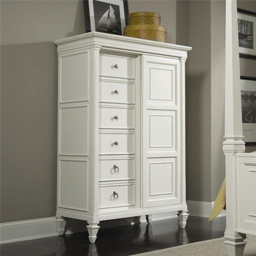 Magnussen Home Ashby Drawer Chest with Sliding Door