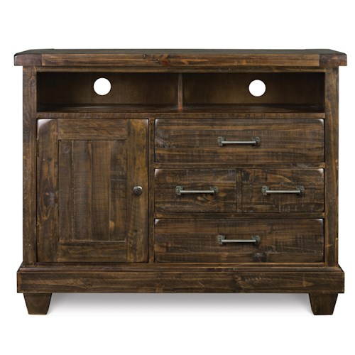Magnussen Home  Brenley 3-Drawer Solid Pine Media Chest