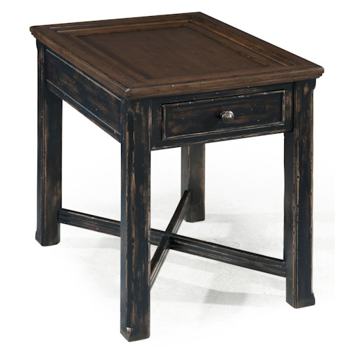 Magnussen Home  Clanton Rectangular End Table w/ Drawer