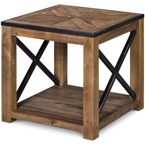 Magnussen Home  Penderton Rectangular End Table with One Shelf