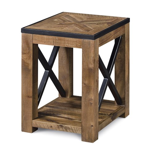 Magnussen Home  Penderton Chairside End Table with Square Block Legs
