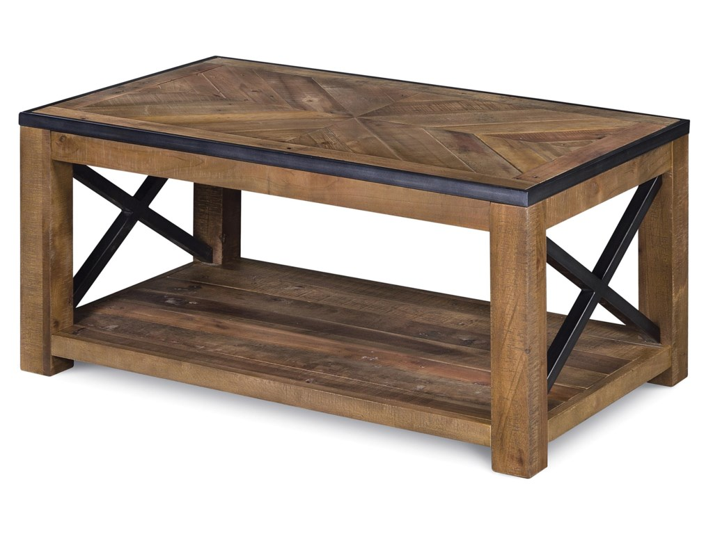 Magnussen Home  PendertonSmall Rectangular Cocktail Table (w/ caste