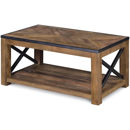 Magnussen Home  Penderton Small Rectangular Cocktail Table with Casters