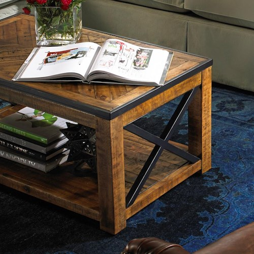 Belfort Select  Penderton Small Rectangular Cocktail Table with Casters