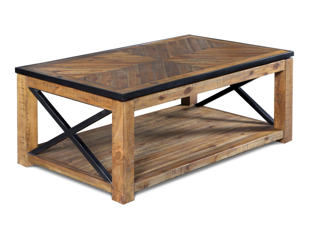 Morris Home Furnishings  PendertonOakbrook Rectangular Lift-top Cocktail Table