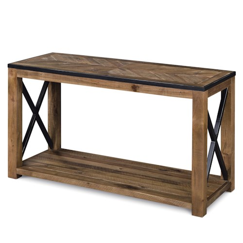 Magnussen Home  Penderton Rectangular Sofa Table with X Cross Stretchers