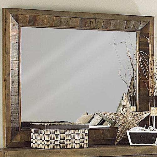 Magnussen Home  River Ridge Solid Wood Landscape Mirror