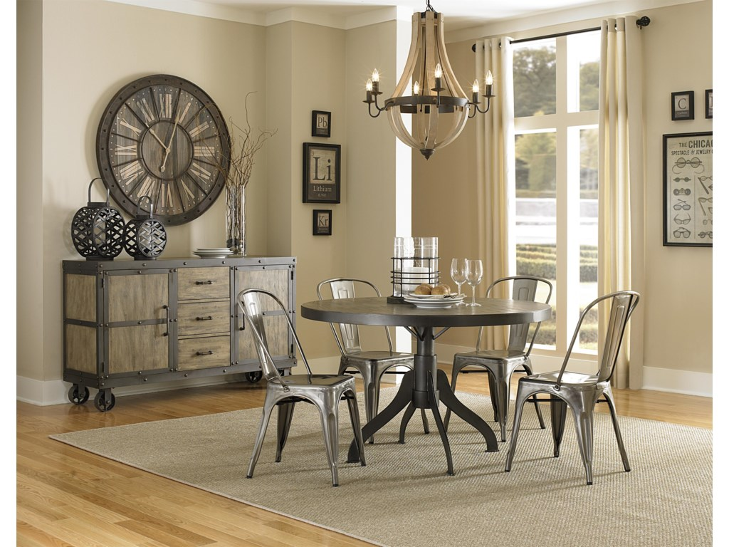 magnussen home walton rustic casual dining table with natural finish - Magnussen Dining Room Furniture
