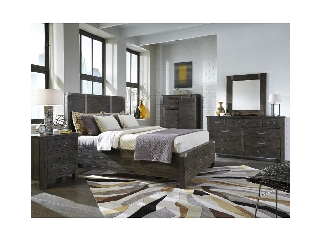 Magnussen Home AbingtonKing Storage Bedroom Group