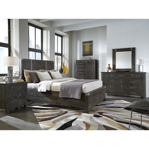 Magnussen Home Abington King Storage Bedroom Group