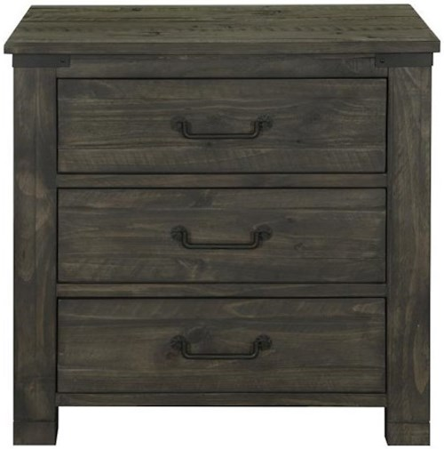 Magnussen Home Abington 3 Drawer Night Stand with Touch Lighting