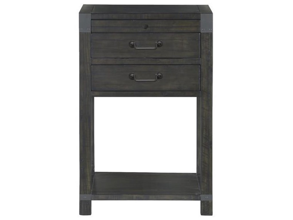 Magnussen Home Abington2 Drawer Open Nightstand