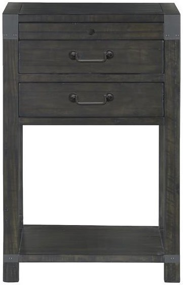 Magnussen Home Abington 2 Drawer Open Nightstand with Touch Lighting