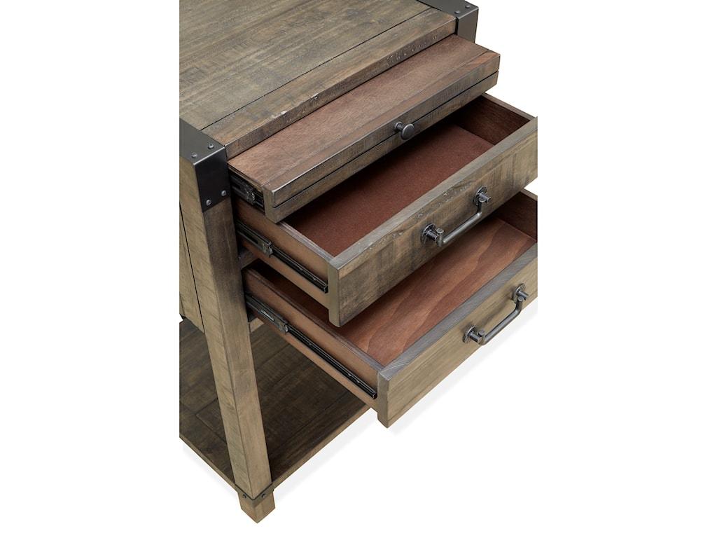 Magnussen Home Abington2 Drawer Open Nightstand
