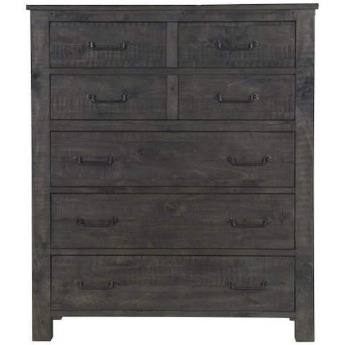 Magnussen Home Abington 5 Drawer Chest with Felt-Lined Top Drawers