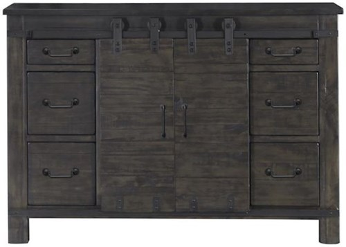 Magnussen Home Abington 6 Drawer Media Chest with Wire Management