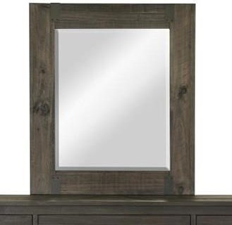 Magnussen Home Abington Portrait Mirror with Wood Frame