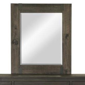 Magnussen Home Abington Portrait Mirror with Wood Frame