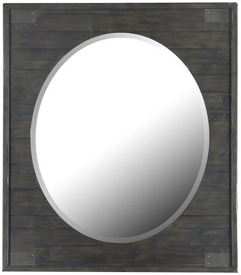 Magnussen Home Abington Portrait Oval Mirror with Wood Frame