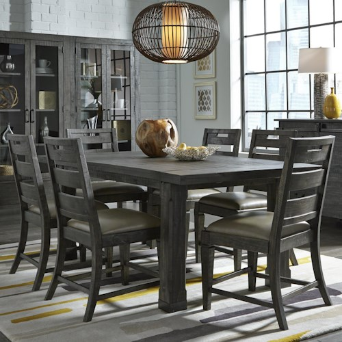 Magnussen Home Abington Seven Piece Dining Set with Extension Leaf Table