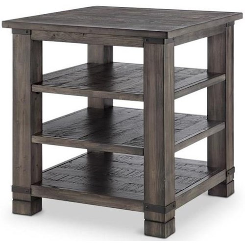 Magnussen Home Abington Weathered Grey Square End Table