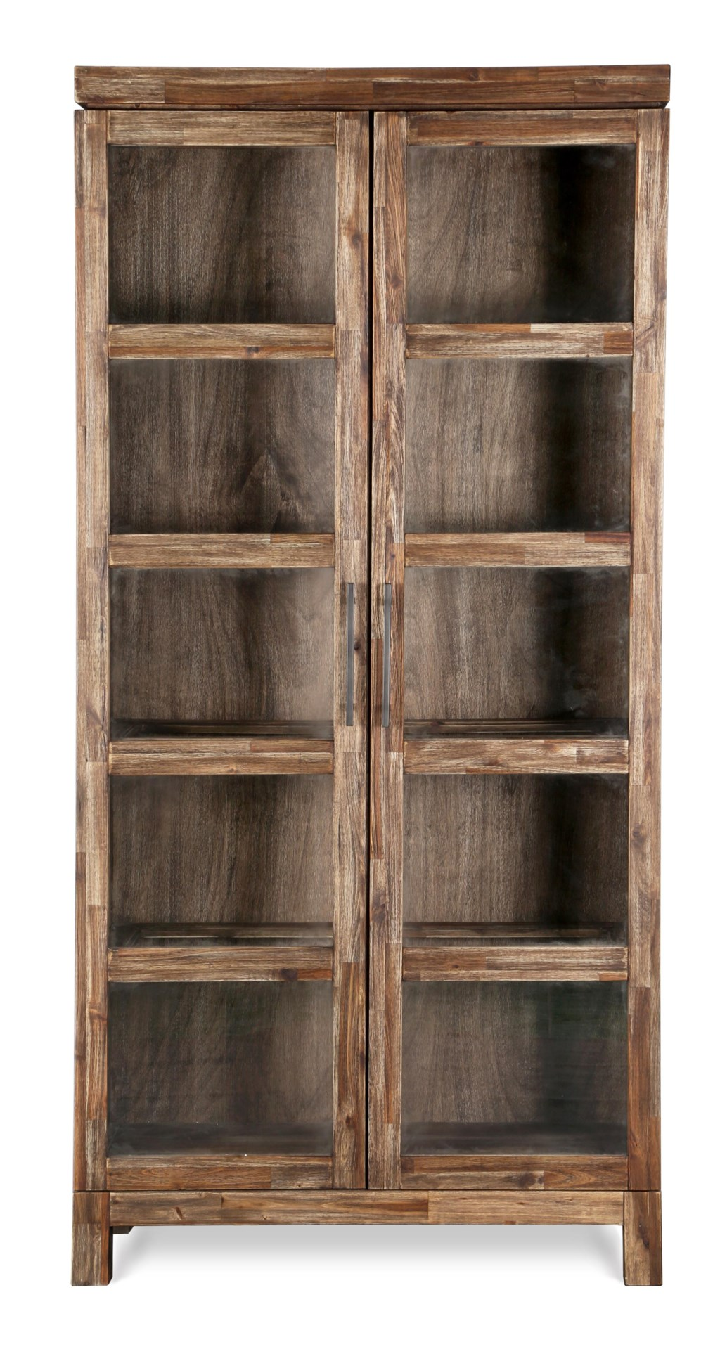 Magnussen Home Adler Contemporary Rustic Bookcase With Glass Doors And  Adjustable Display Shelves - Miskelly Furniture - Closed Bookcase