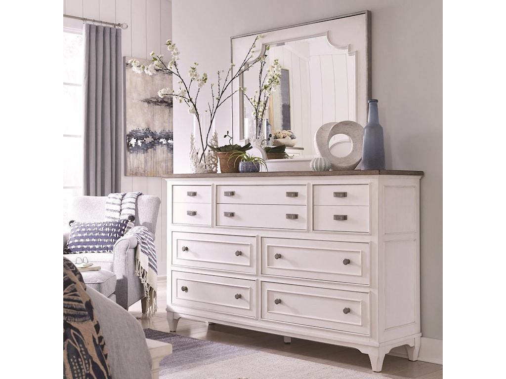 Magnussen Home Alys BeachDresser and Mirror Set